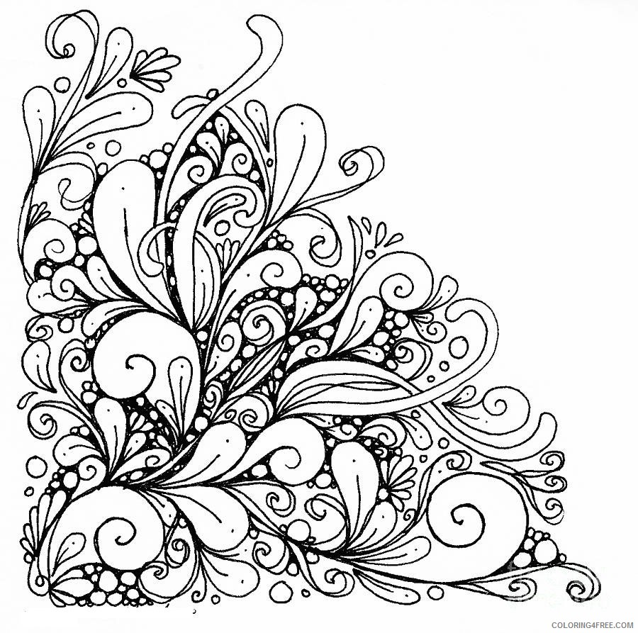 abstract printable coloring pages for girls Coloring4free