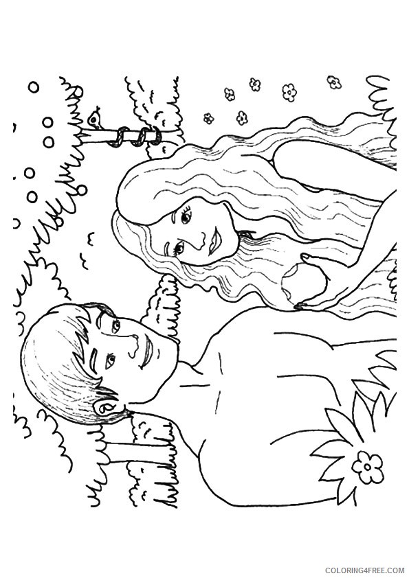 adam and eve coloring pages eating the apple Coloring4free