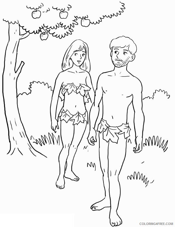 adam and eve coloring pages to print Coloring4free