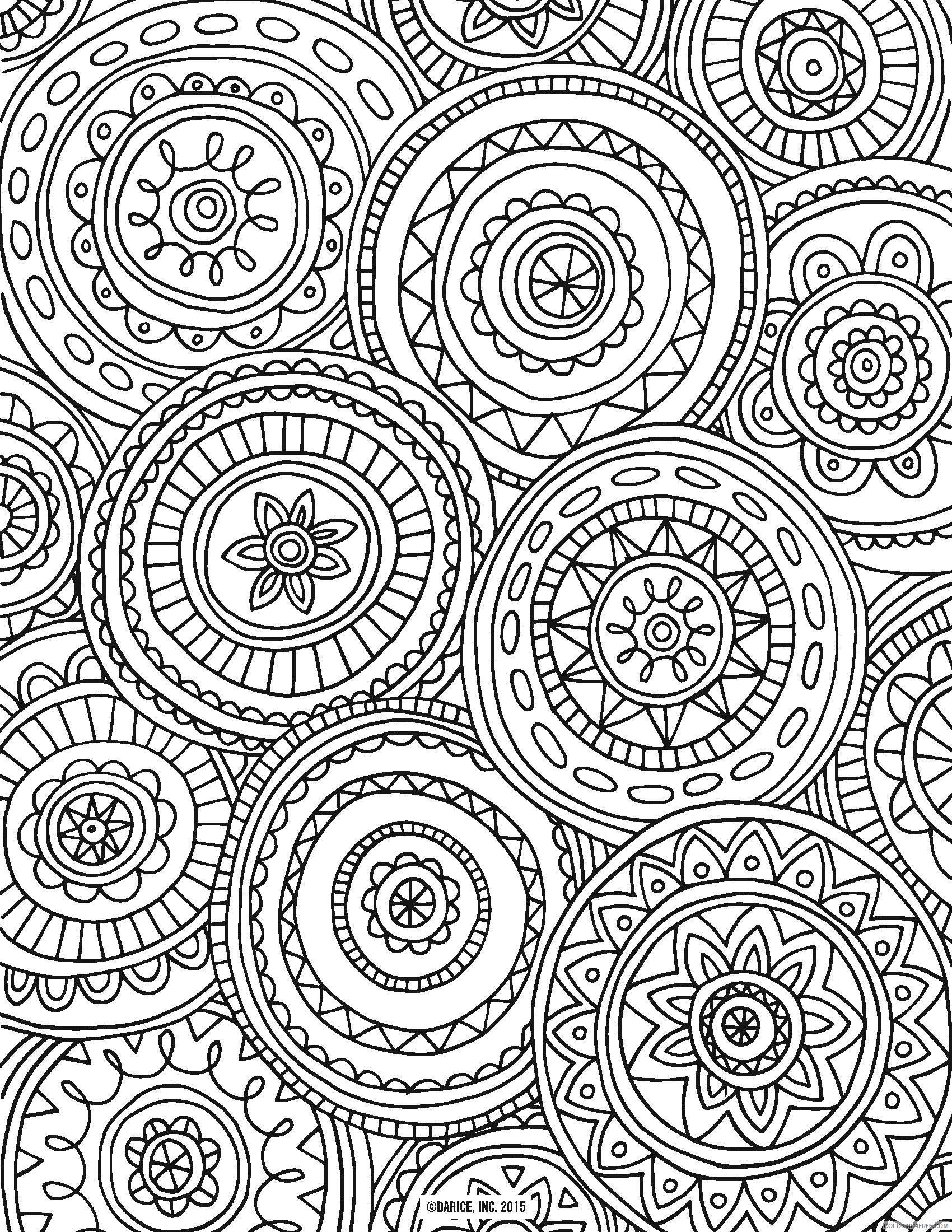 adult coloring pages circled mandala Coloring4free