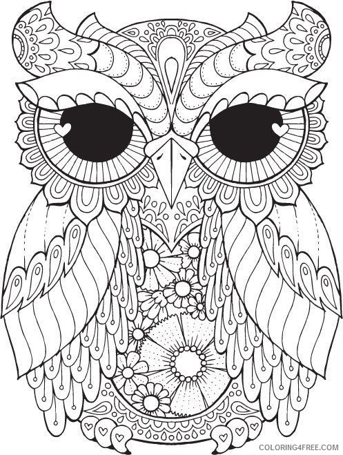 adult coloring pages fat owl Coloring4free