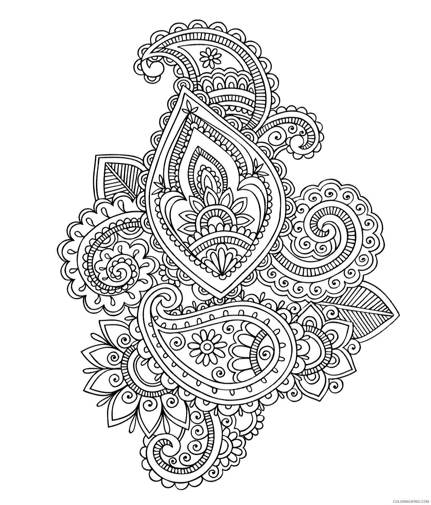 adult coloring pages free Coloring4free