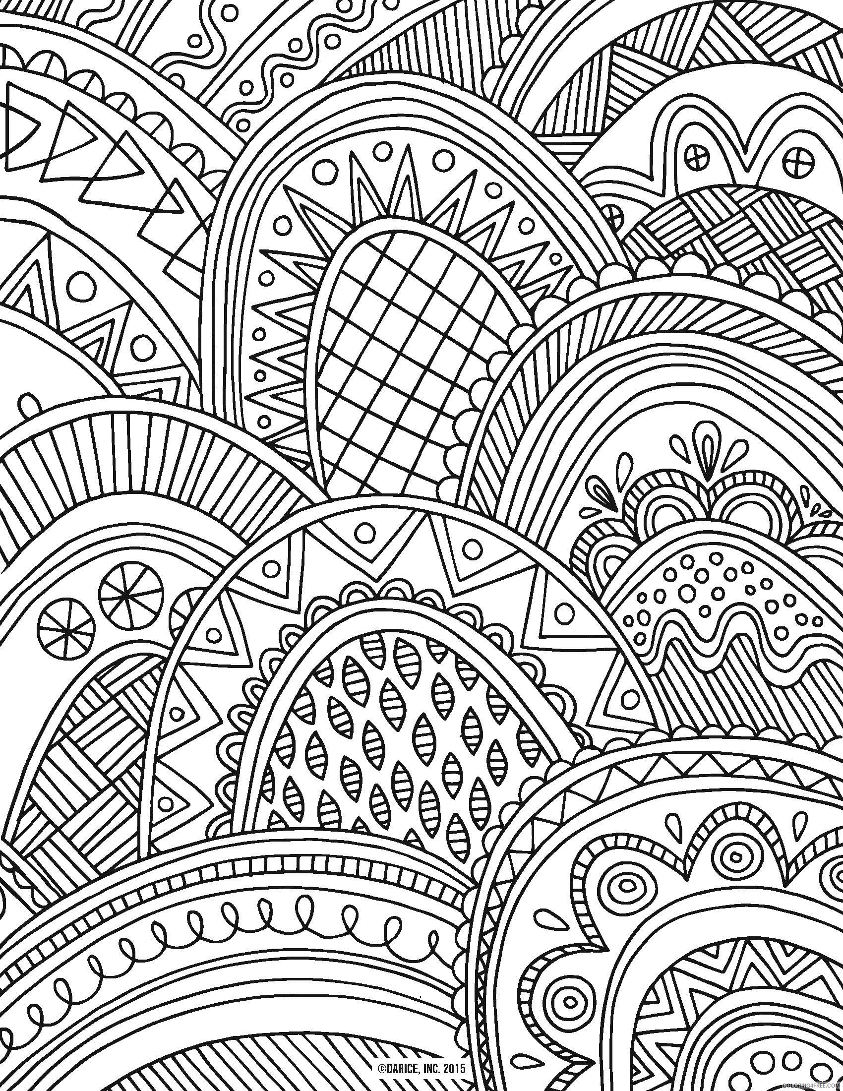 adult coloring pages hard pattern by darice Coloring4free