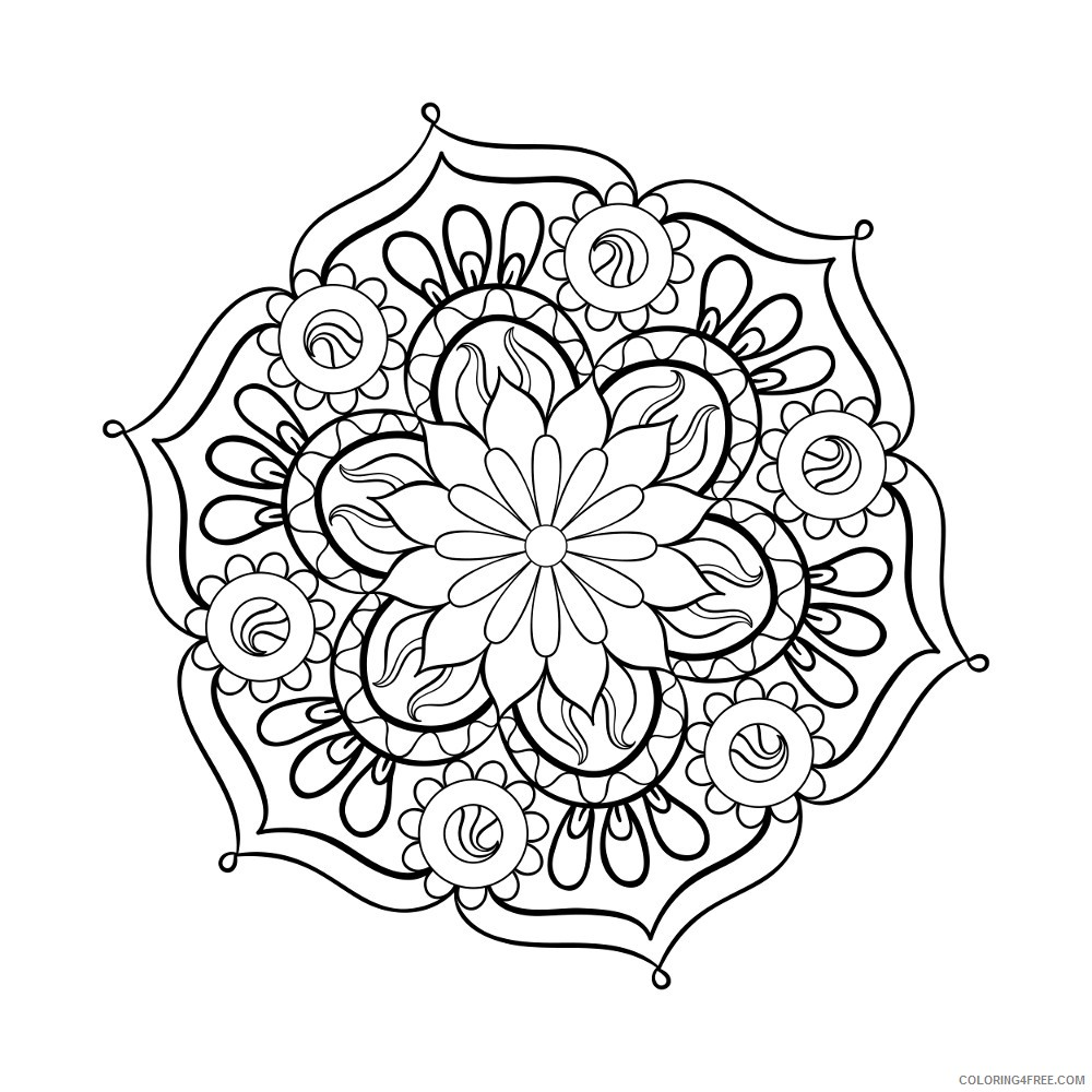adult coloring pages mandala to print Coloring4free
