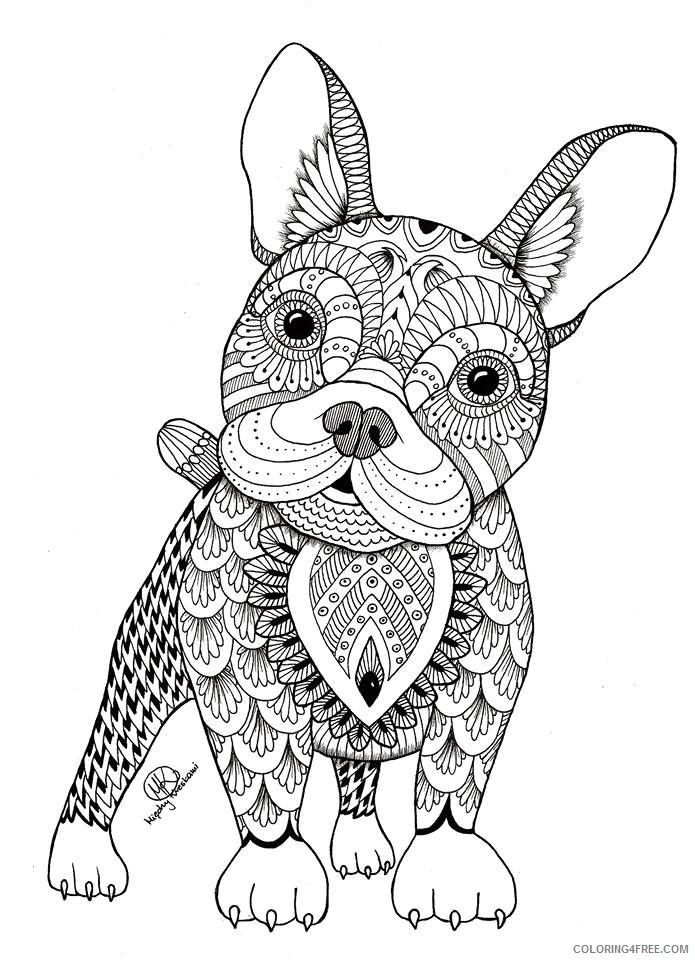adult coloring pages puppy cute Coloring4free