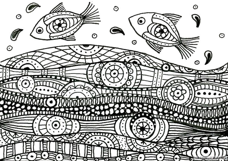 adult coloring pages sea fish Coloring4free