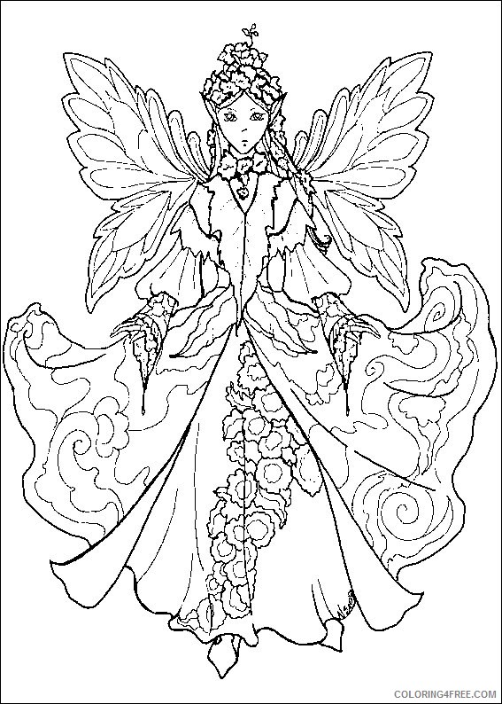 advanced coloring pages fairy Coloring4free