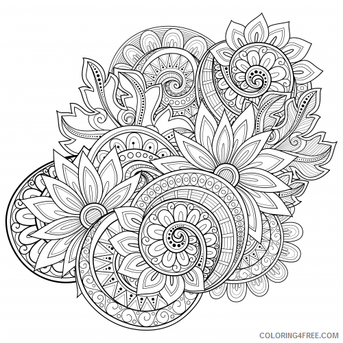 advanced coloring pages paisley Coloring4free