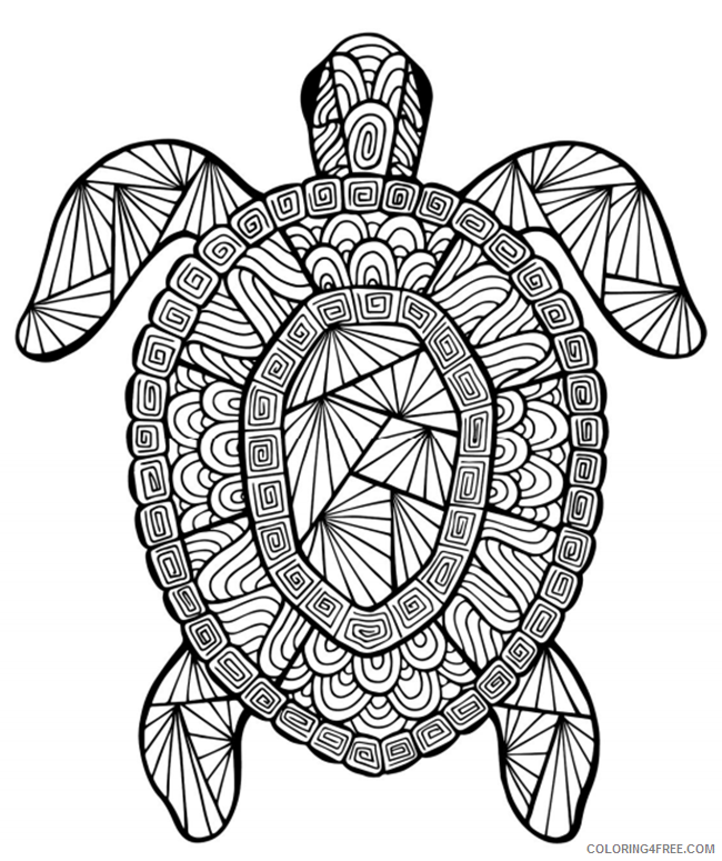 advanced coloring pages sea turtle Coloring4free