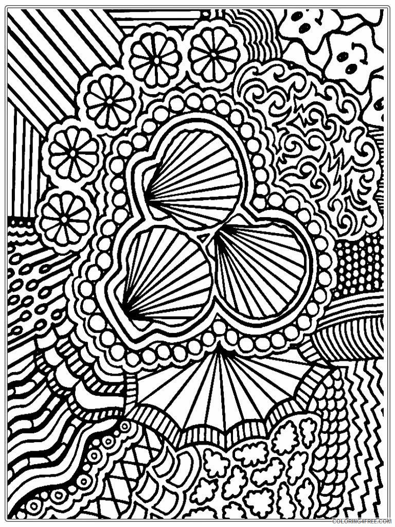 advanced coloring pages seashells Coloring4free