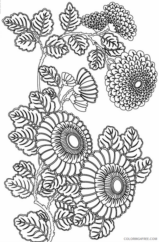 advanced coloring pages sunflowers Coloring4free