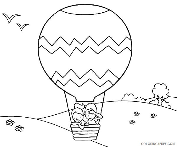 adventure on hot air balloon coloring pages Coloring4free