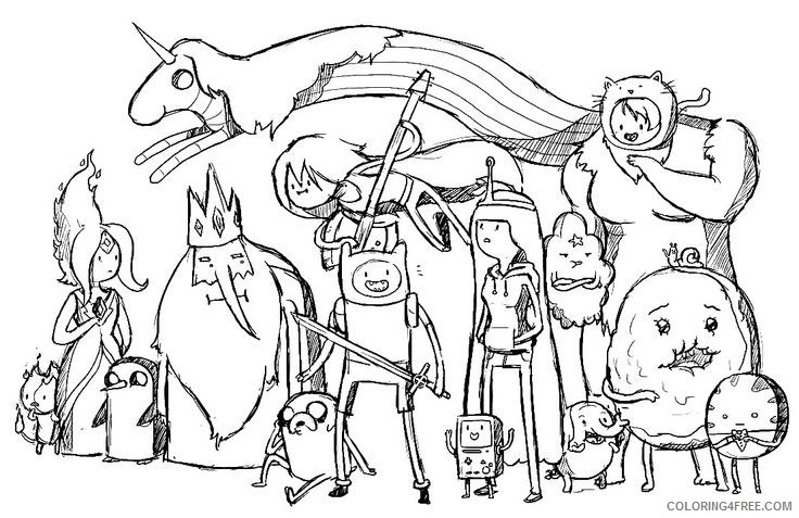 adventure time coloring pages all characters Coloring4free