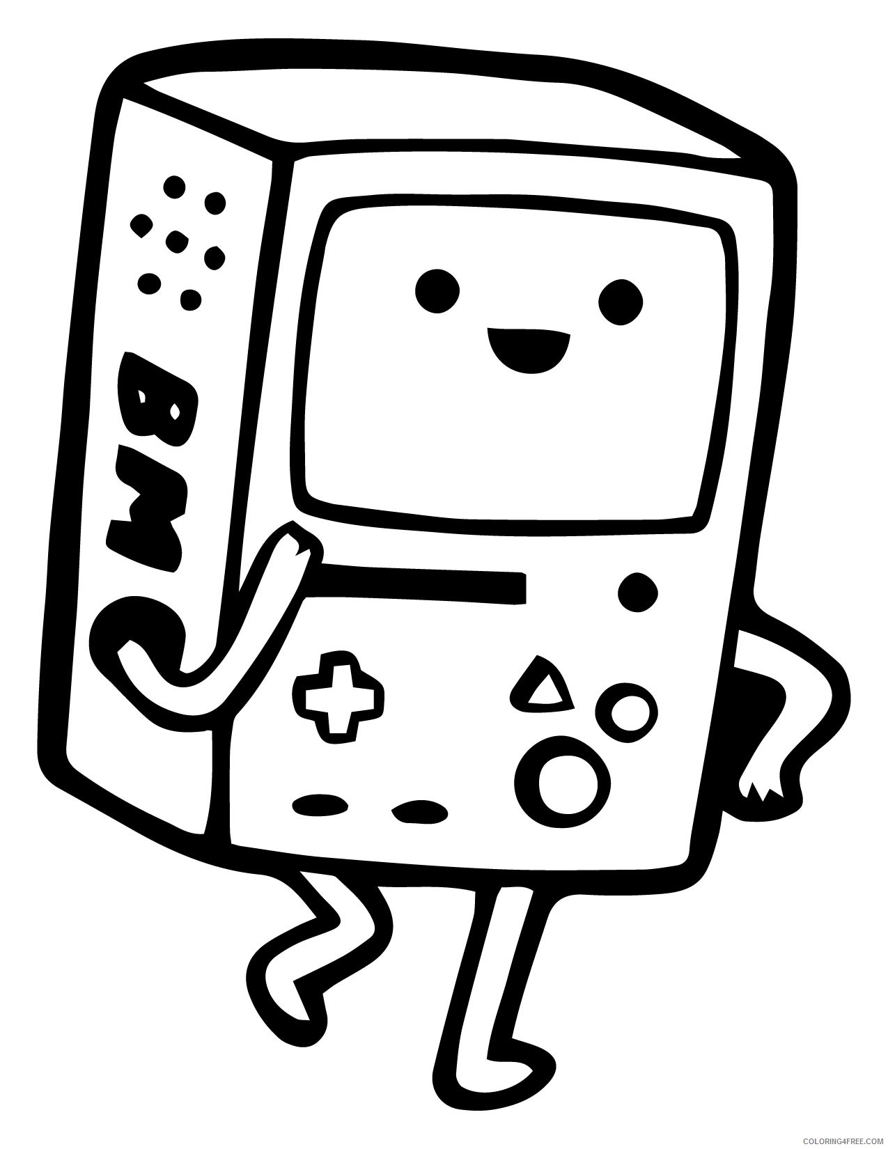 adventure time coloring pages beemo Coloring4free