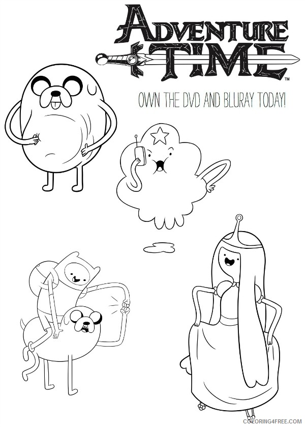 adventure time coloring pages cartoon Coloring4free