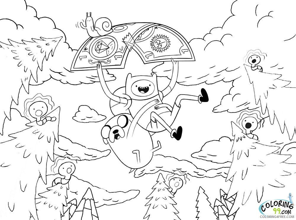 adventure time coloring pages cartoon network Coloring4free