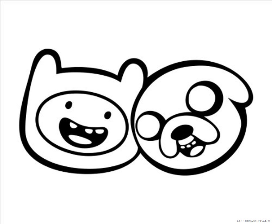 adventure time coloring pages finns and jakes face Coloring4free