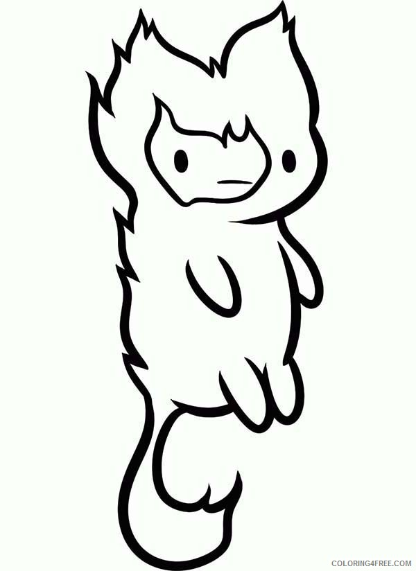 adventure time coloring pages flambo Coloring4free