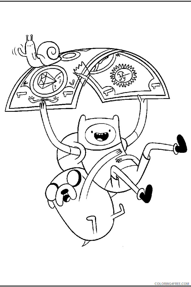 adventure time coloring pages flying with money Coloring4free