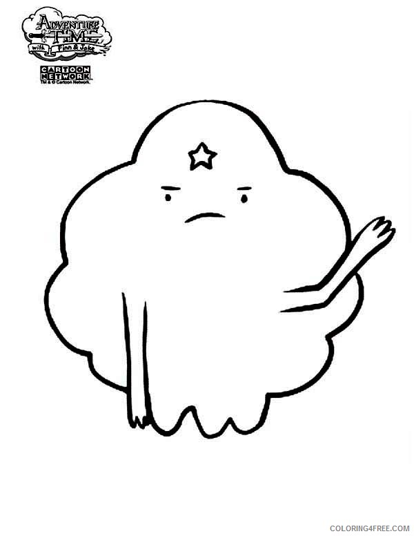 adventure time coloring pages lumpy Coloring4free