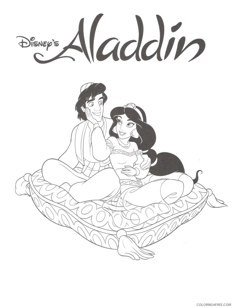 aladdin coloring pages disney Coloring4free