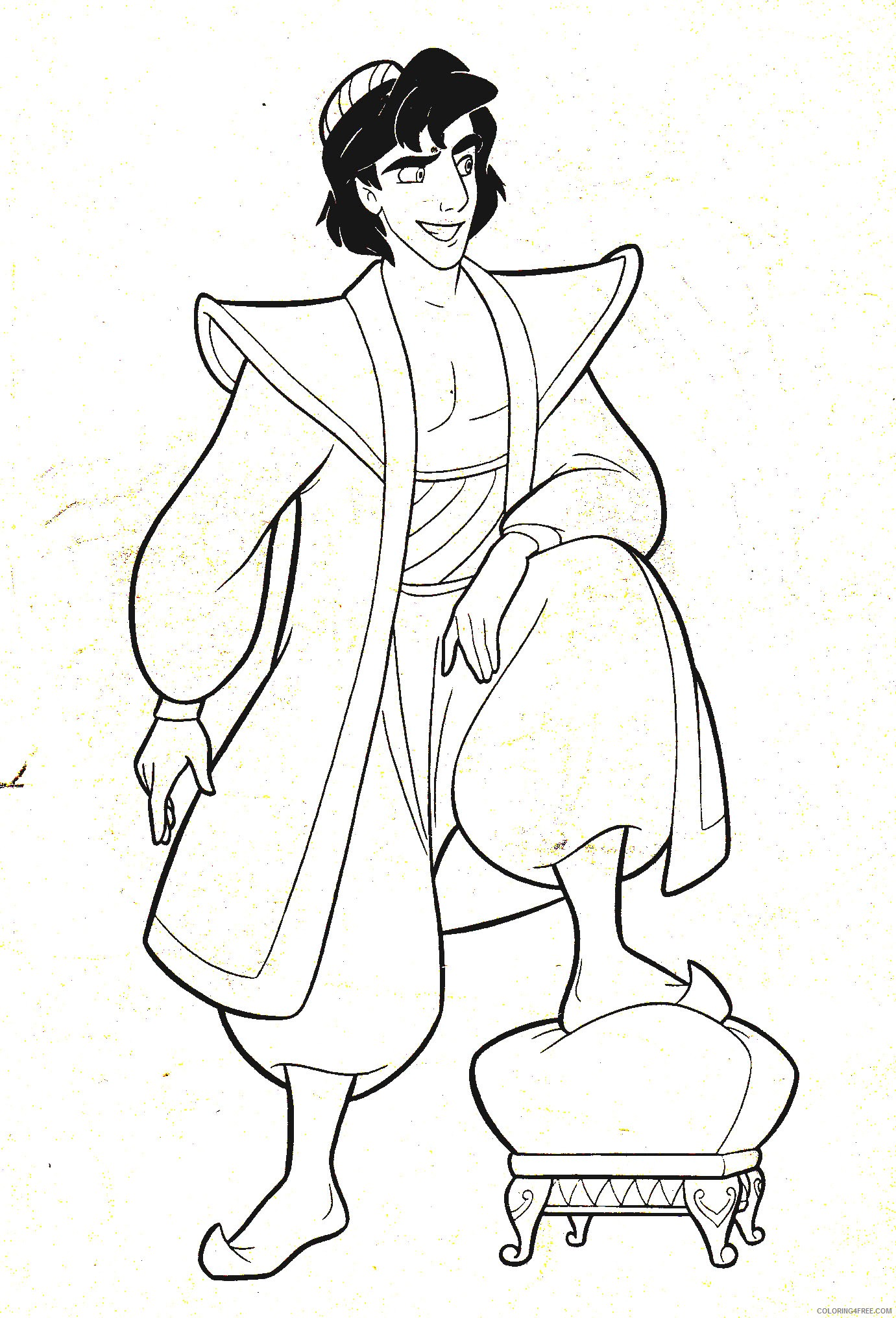 aladdin coloring pages for kids Coloring4free