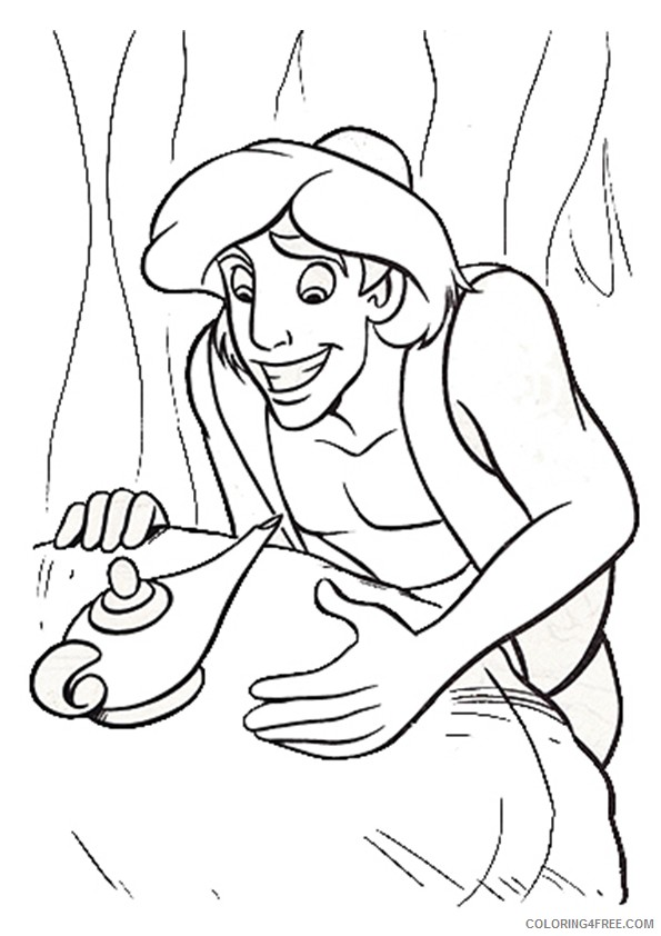 aladdin coloring pages magic lamp Coloring4free