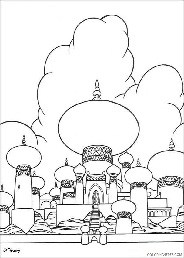 aladdin coloring pages sultan palace Coloring4free