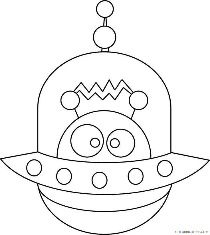alien coloring pages for preschool Coloring4free