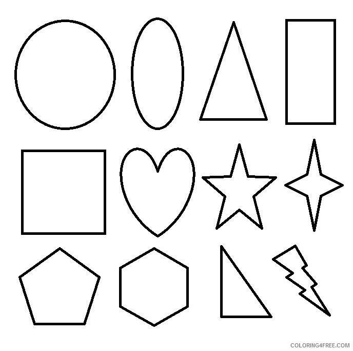 all shape coloring pages printable Coloring4free