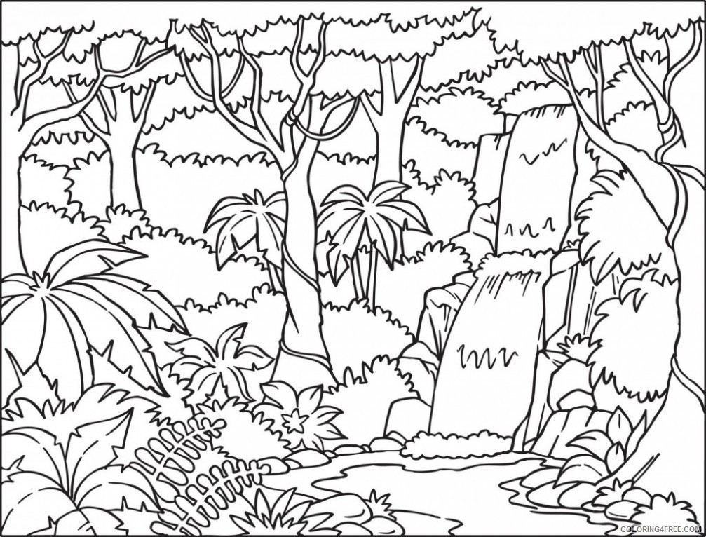 amazon rainforest coloring pages printable Coloring4free