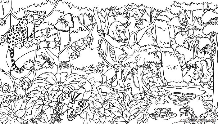 amazon rainforest coloring pages with animals Coloring4free
