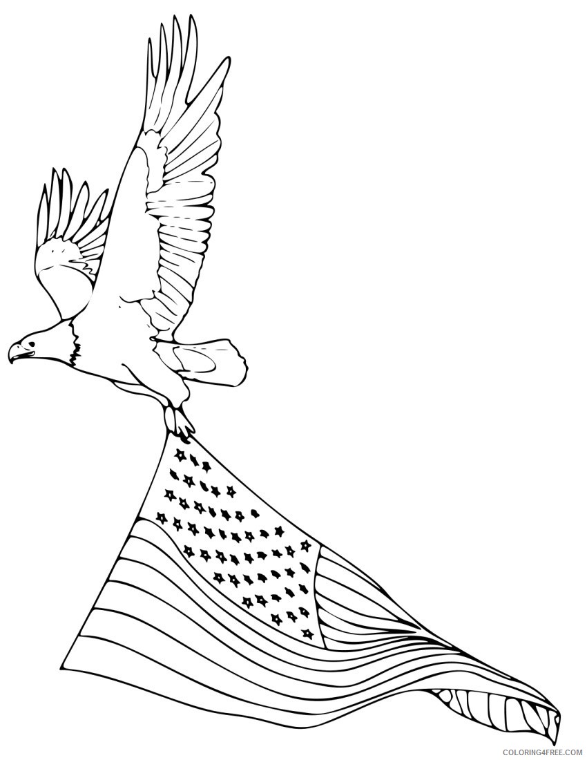 american bald eagle coloring pages Coloring4free