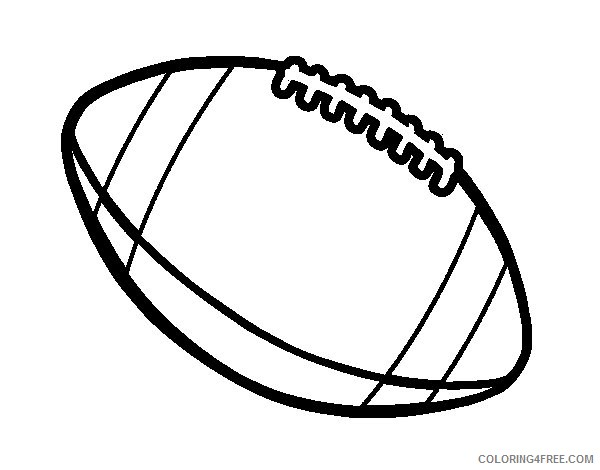 american football ball coloring pages Coloring4free