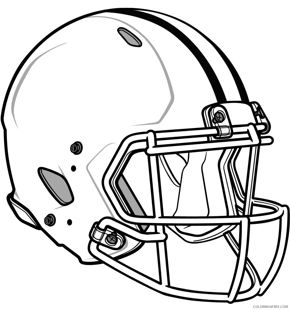 american football helmet coloring pages Coloring4free