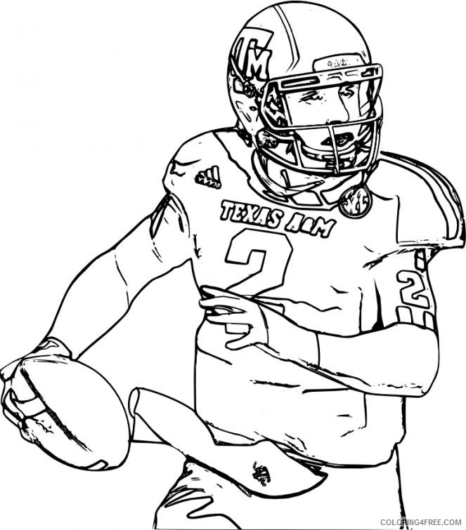 american football player coloring pages to print Coloring4free