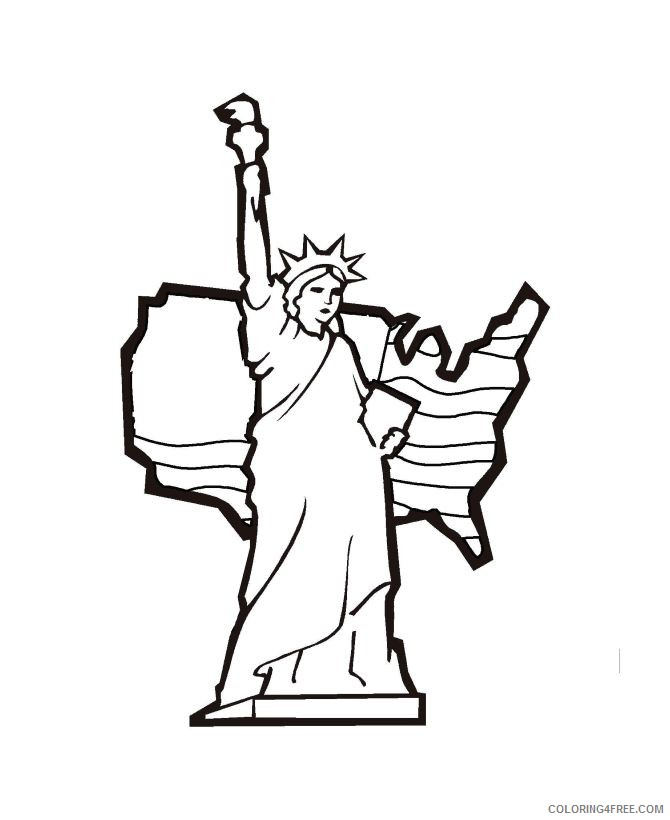 american statue of liberty coloring pages Coloring4free