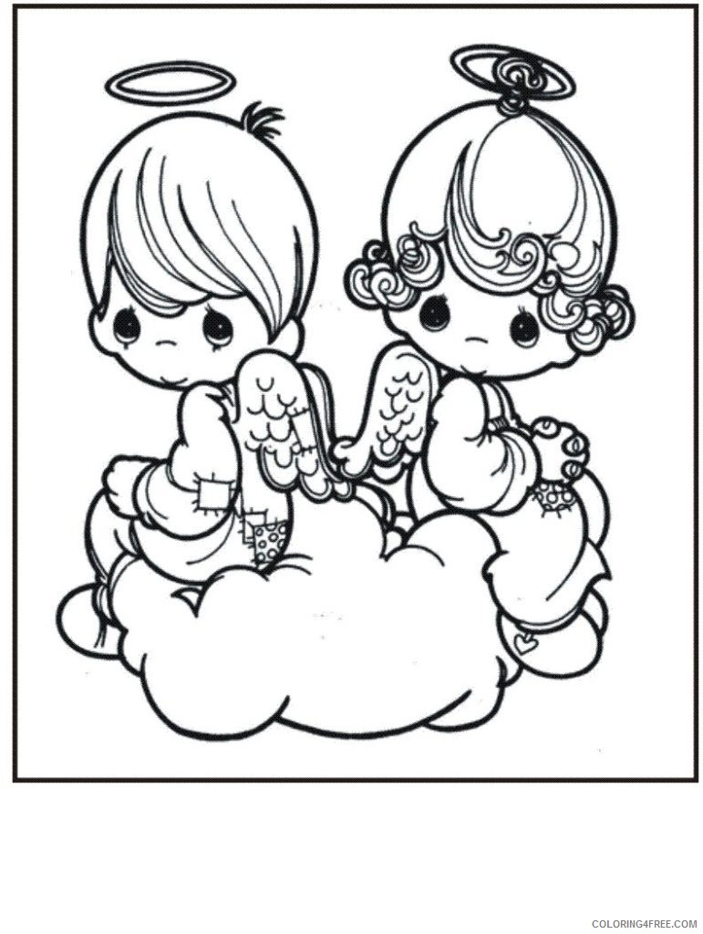 angel coloring pages precious moments Coloring4free