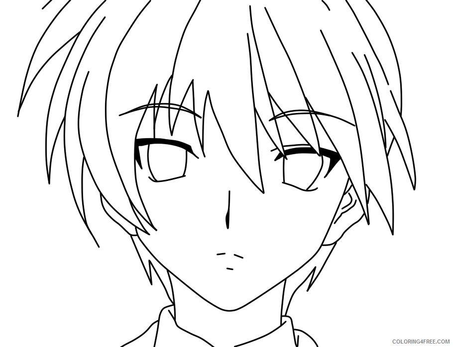 anime boy face coloring pages Coloring4free