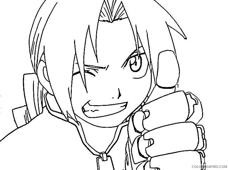 anime coloring pages close up Coloring4free