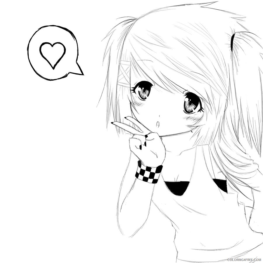 anime coloring pages for teenagers Coloring4free