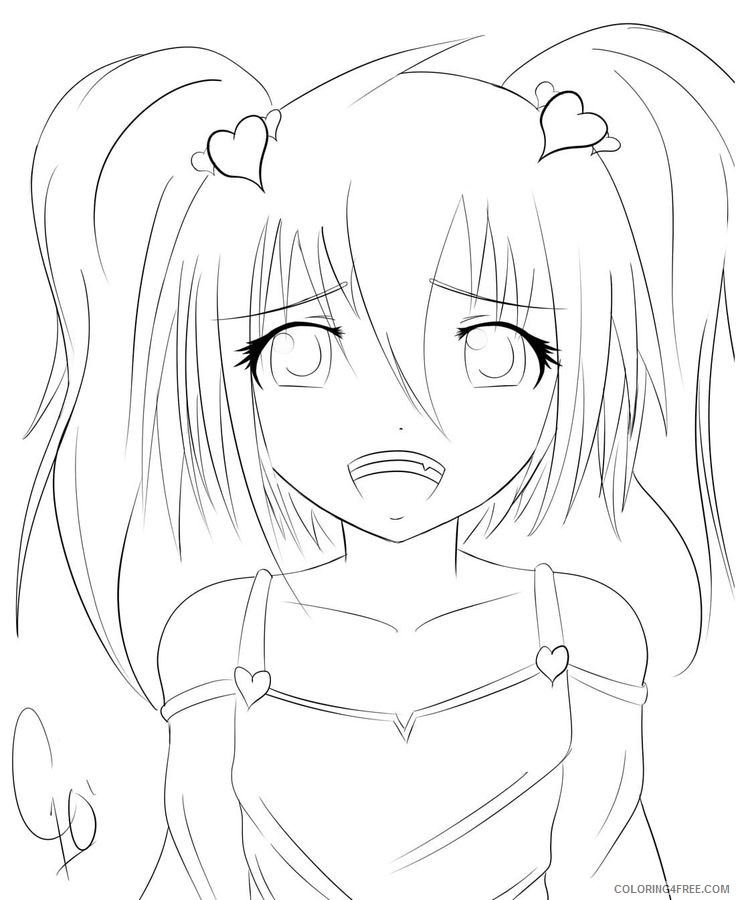 anime coloring pages to print Coloring4free