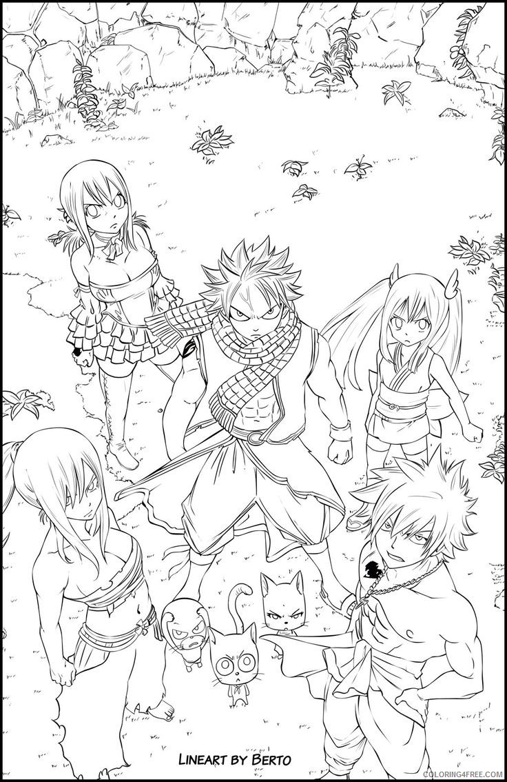 anime fairy tail coloring pages Coloring4free