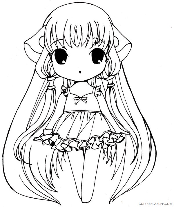 anime girl coloring pages chibi Coloring4free