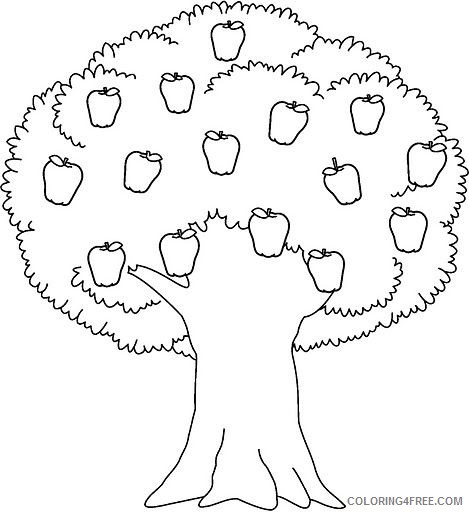 apple tree coloring pages to print Coloring4free