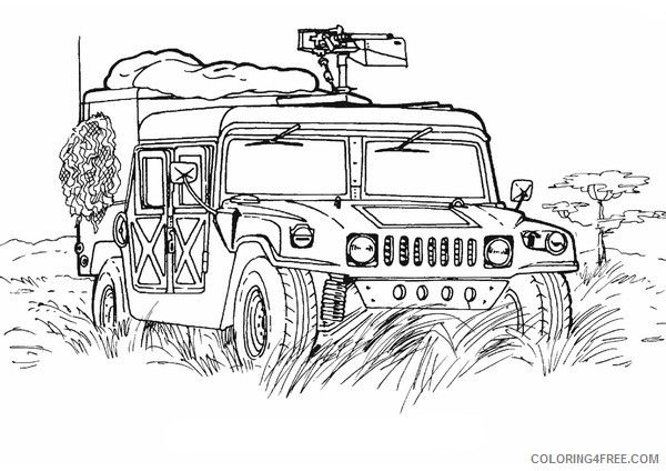army coloring pages military hummer Coloring4free