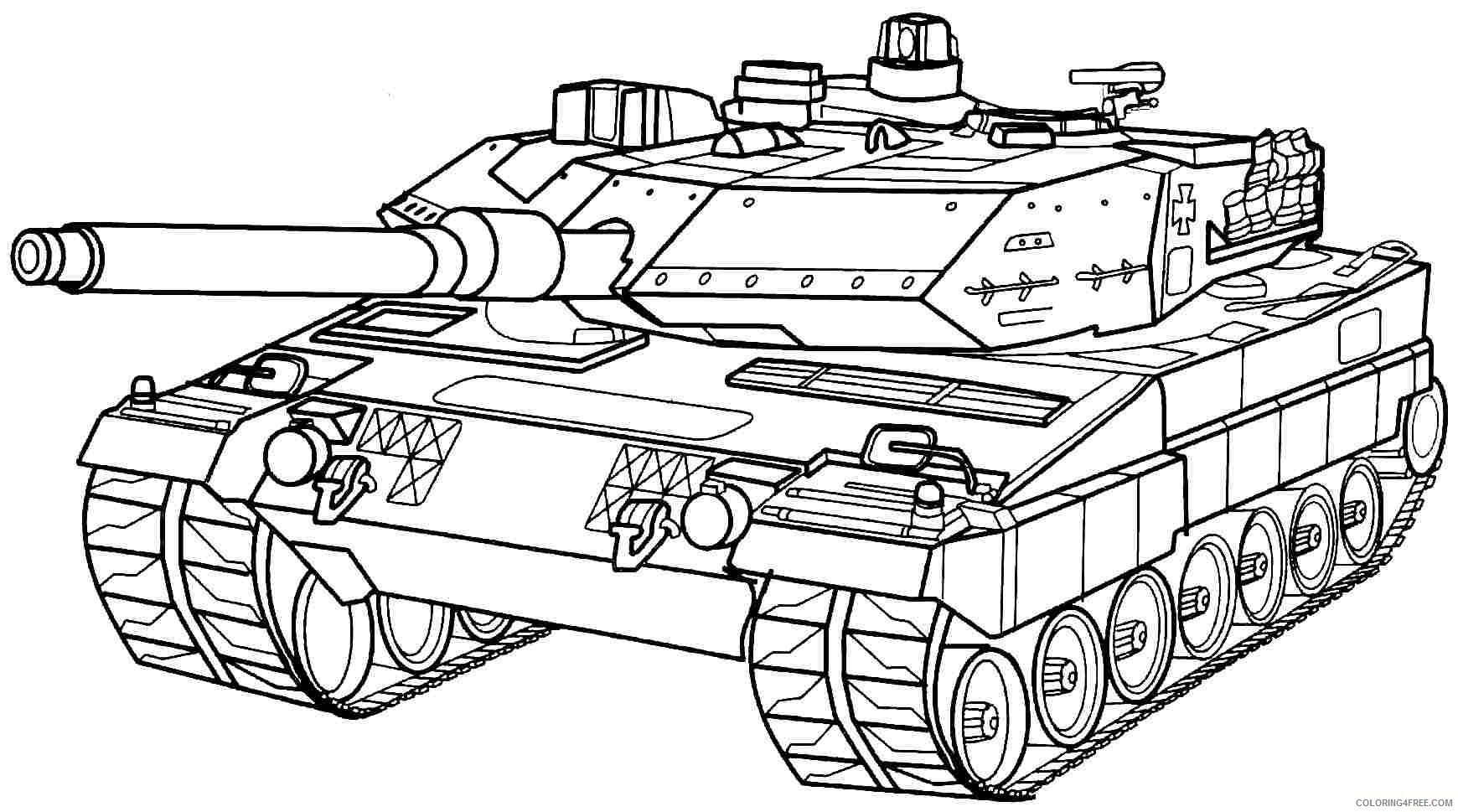 Army Coloring Pages Military Tank Coloring4free Coloring4free Com