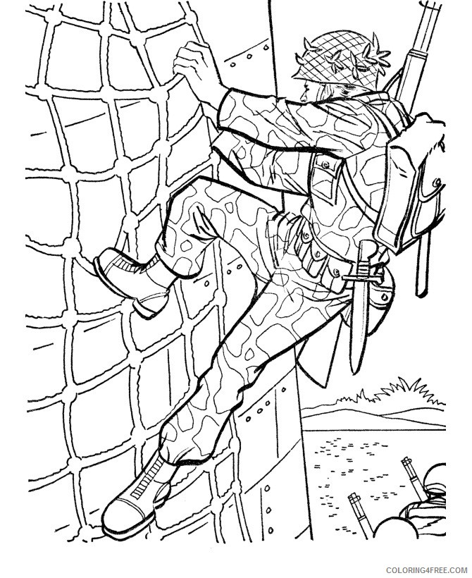 army coloring pages military training Coloring4free