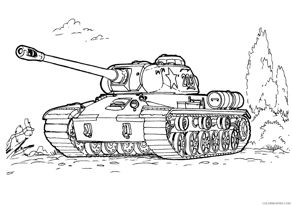 army coloring pages tank Coloring4free