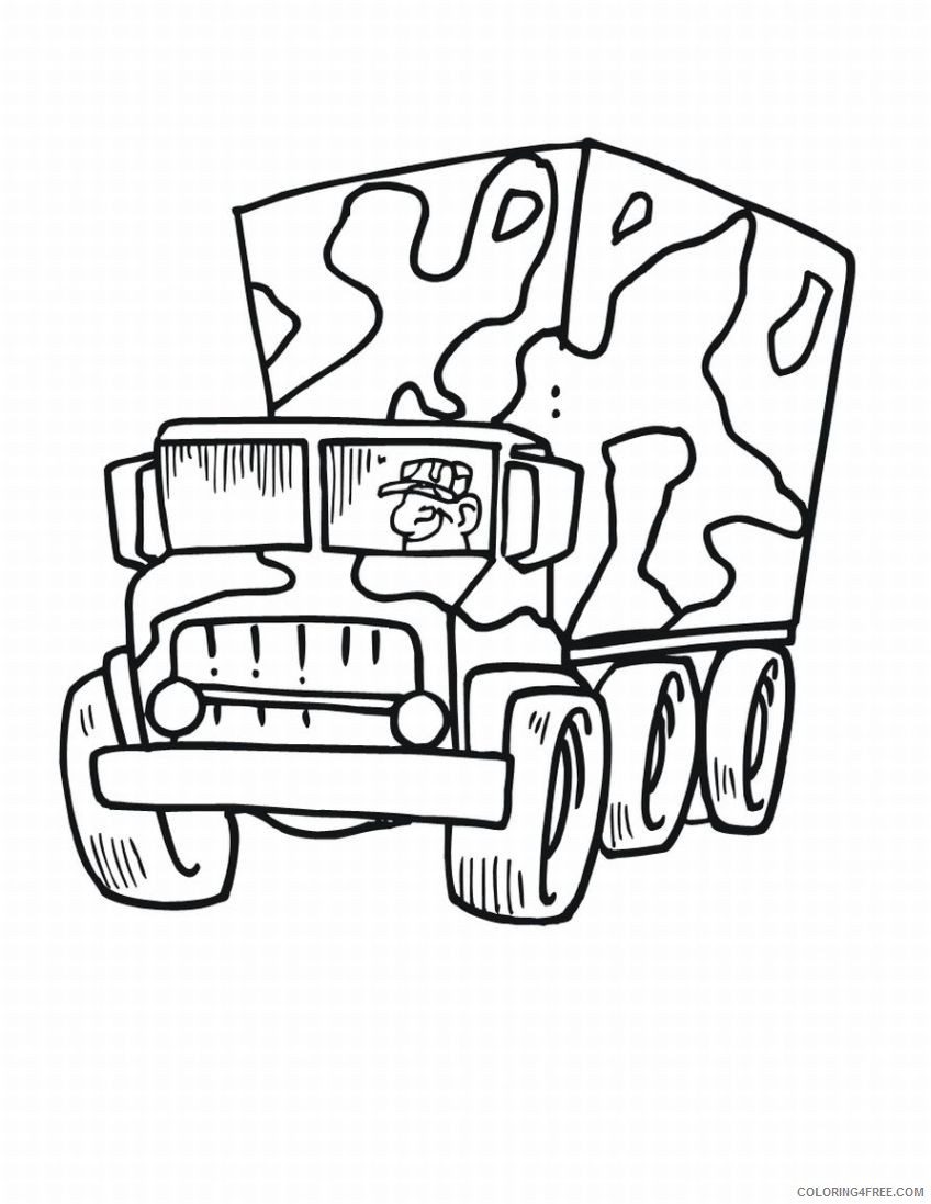 army truck coloring pages for kids Coloring4free